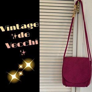 De Vecchi by Hamilton Hodge crossbody fushia bag💕